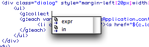 gsp tag support in Dreamweaver